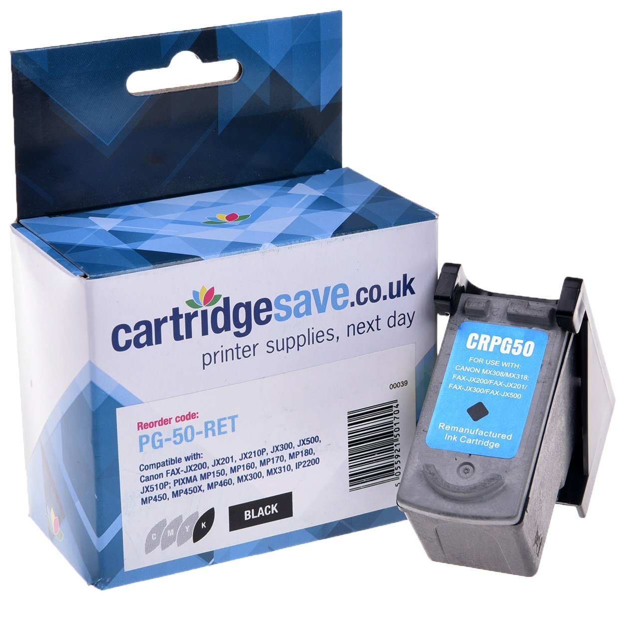 Compatible High Capacity Black Canon PG-50 Ink Cartridge - (Replaces Canon 0616B001 Ink Cartridge)