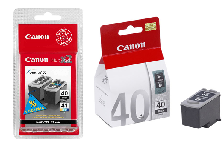 Genuine 2 x Black & 1 x Tri-Colour Canon PG-40 / CL-41 Ink Cartridge Multi Pack (2 x PG-40 & 1 x CL-41)