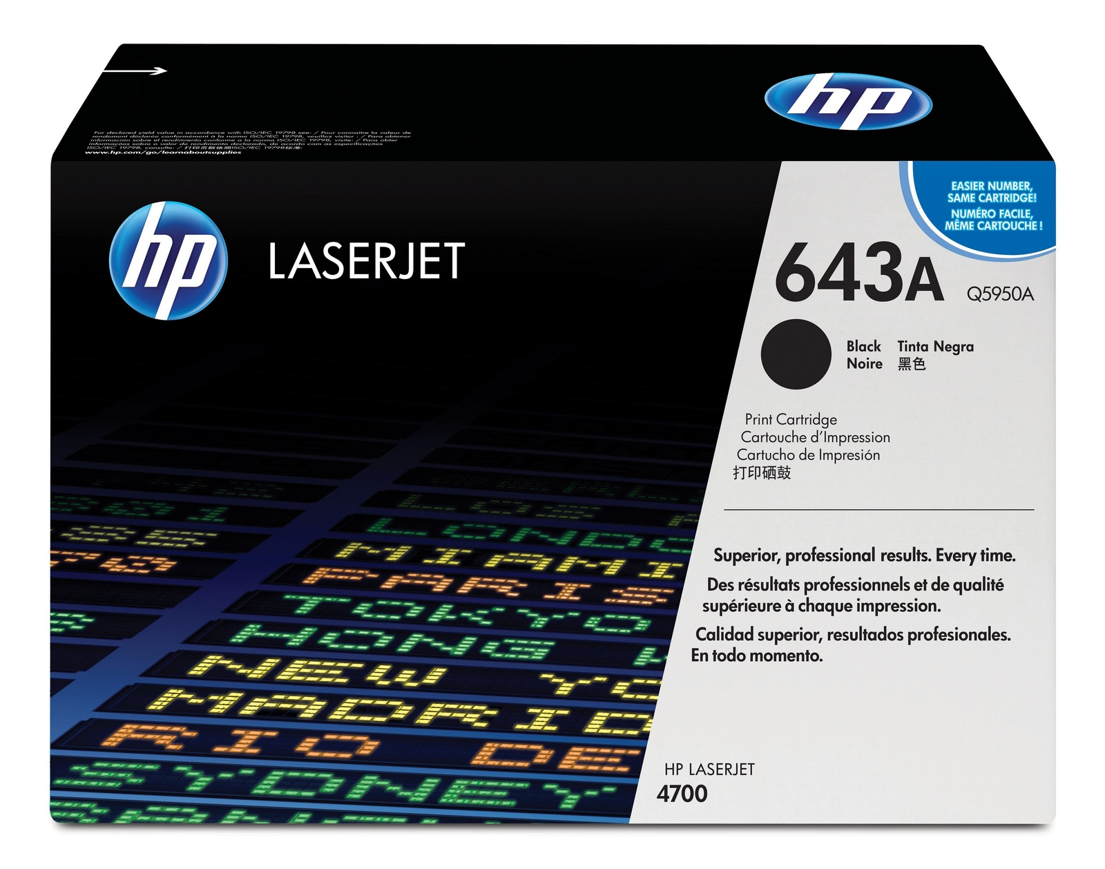 Genuine Black HP 643A Toner Cartridge - (Q5950A)