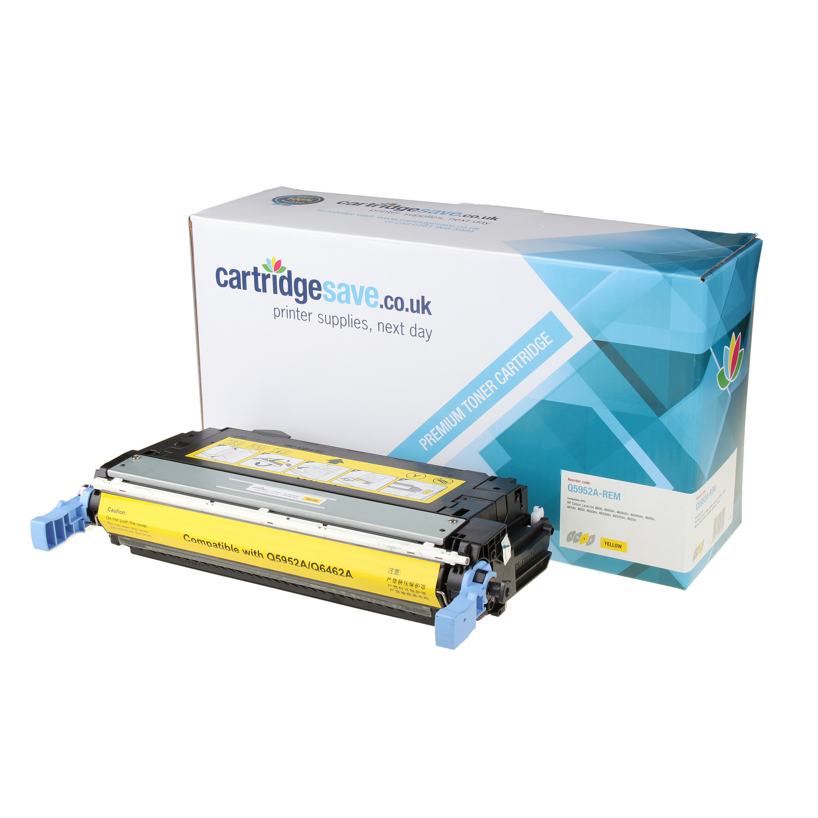 Compatible HP 643A Yellow Toner Cartridge (Replaces Q5952A Laser Printer Cartridge)