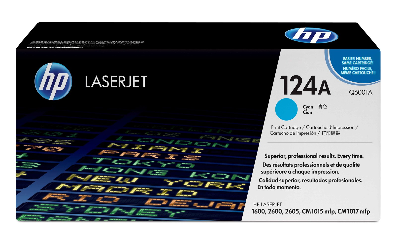 Genuine Cyan HP 124A Toner Cartridge - (Q6001A)