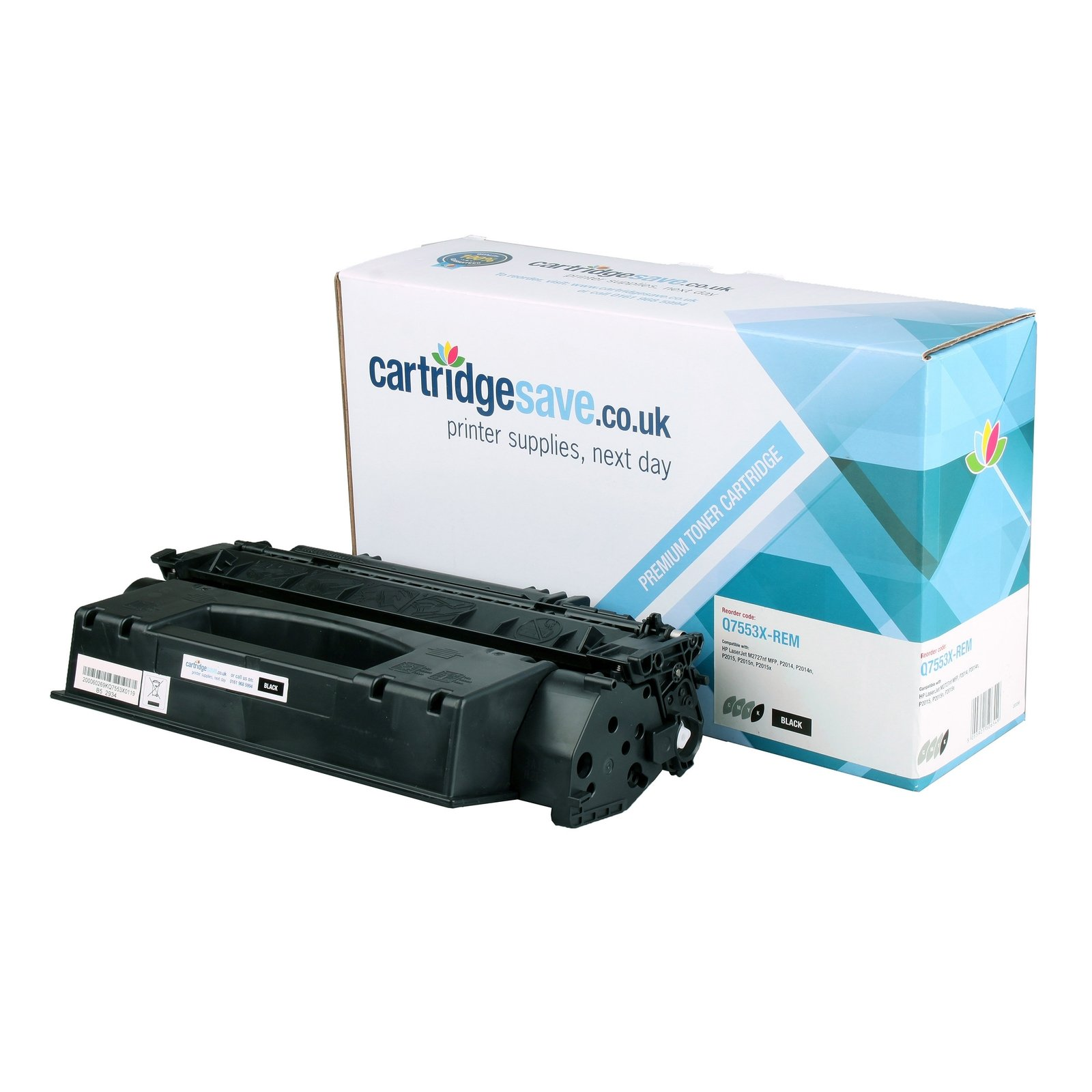Compatible High Capacity Black HP 53X Laser Toner - (HP Q7553X)