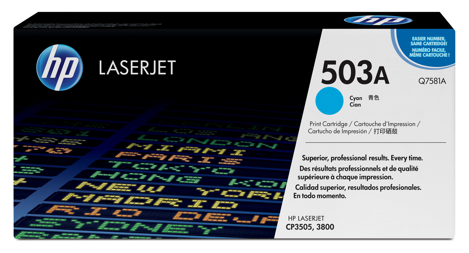Genuine Cyan HP 503A Toner Cartridge - (Q7581A)