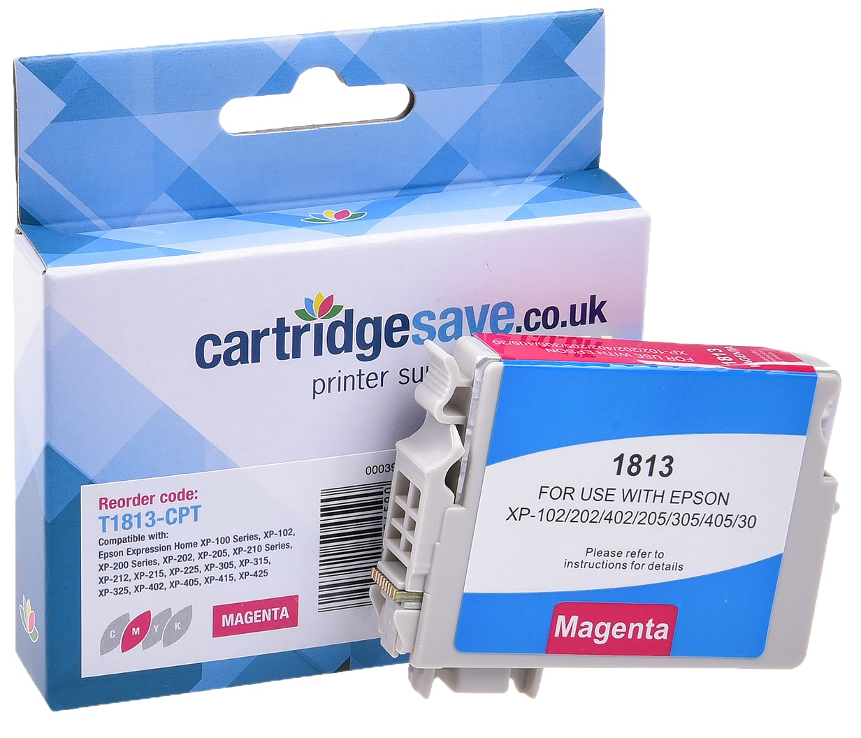 Compatible High Capacity Magenta Epson 18XL Printer Cartridge - (Replaces Epson T1813 Daisy Inkjet Printer Cartridge)