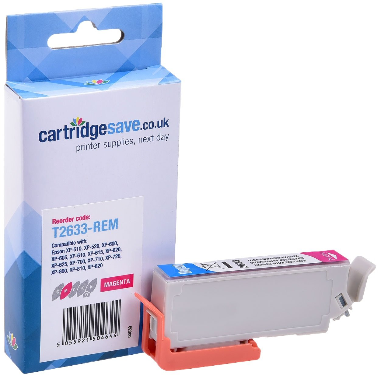 Compatible Magenta Epson 26XL High Capacity Ink Cartridge - (Replaces Epson T2633 Polar Bear Inkjet Printer Cartridge)