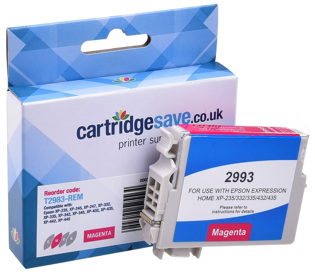 Compatible Magenta Epson 29 Ink Cartridge - (Replaces Epson T2983 Strawberry Inkjet Printer Cartridge)