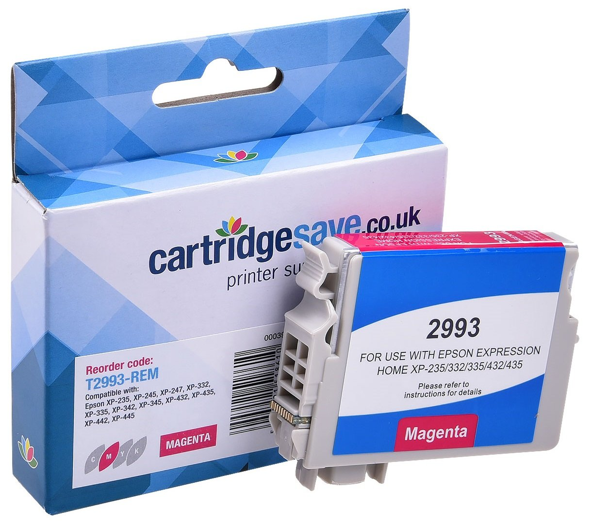 Compatible Magenta Epson 29XL High Capacity Ink Cartridge - (Replaces Epson T2993 Strawberry Epson Ink Cartridge)