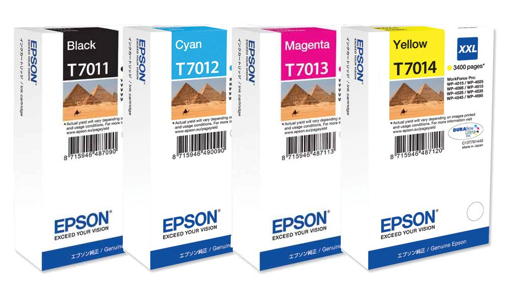 Genuine Extra High Capacity 4 Colour Epson T701 Ink Cartridge Multipack - (T7011/T7012/T7013/T7014 Pyramids Inkjet Printer Cartridges)