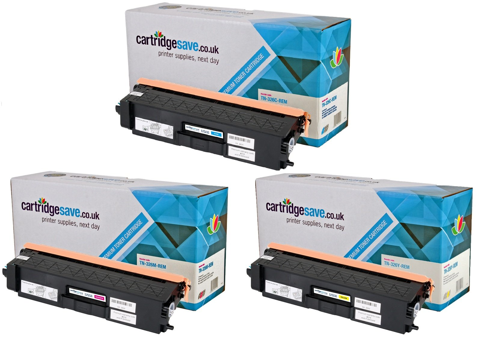 Compatible High Capacity 3 Colour Brother TN-326 Toner Cartridge Multipack (TN-326C/M/Y)