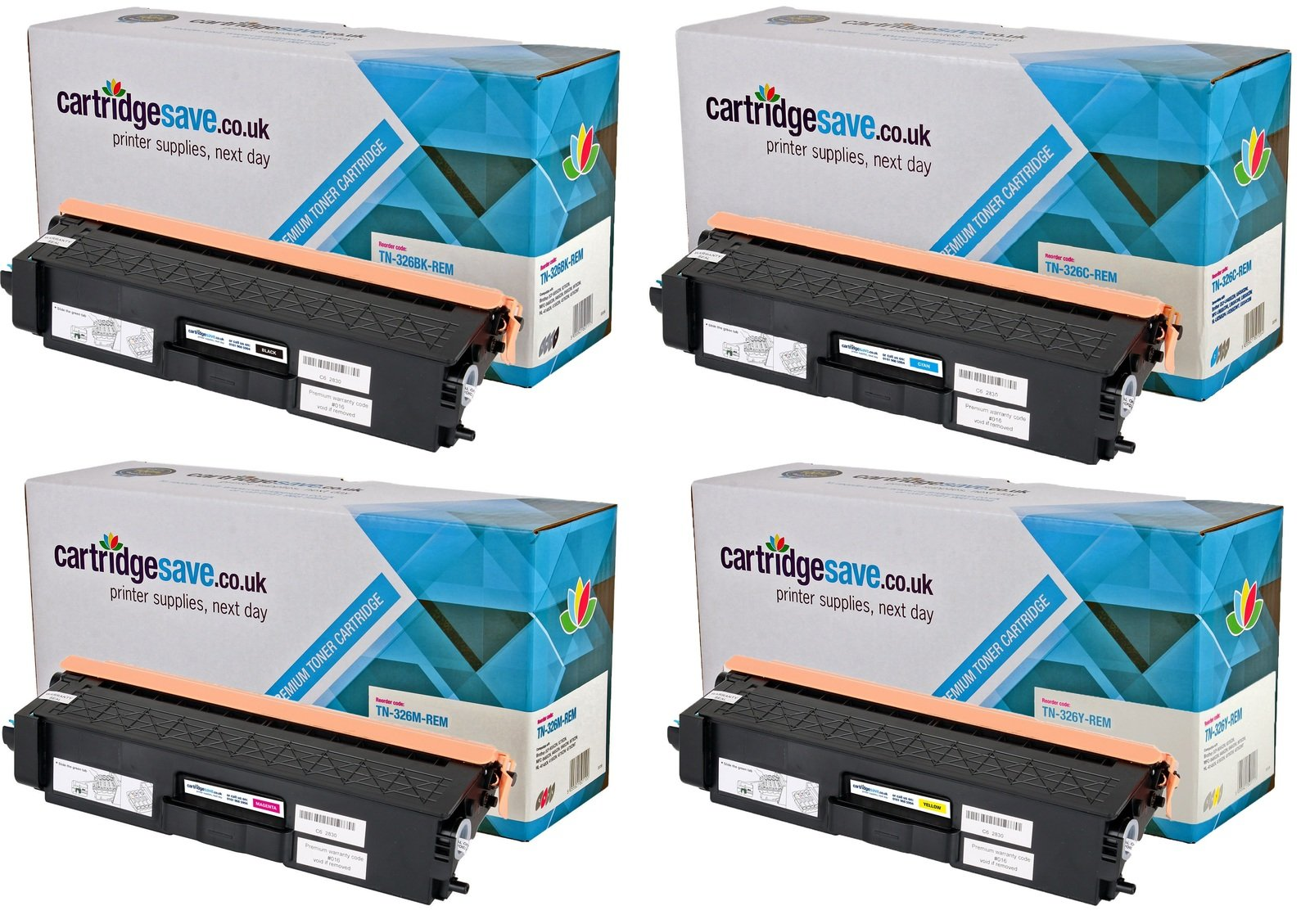 Compatible High Capacity 4 Colour Brother TN-326 Toner Cartridge Multipack (TN-326BK/C/M/Y)