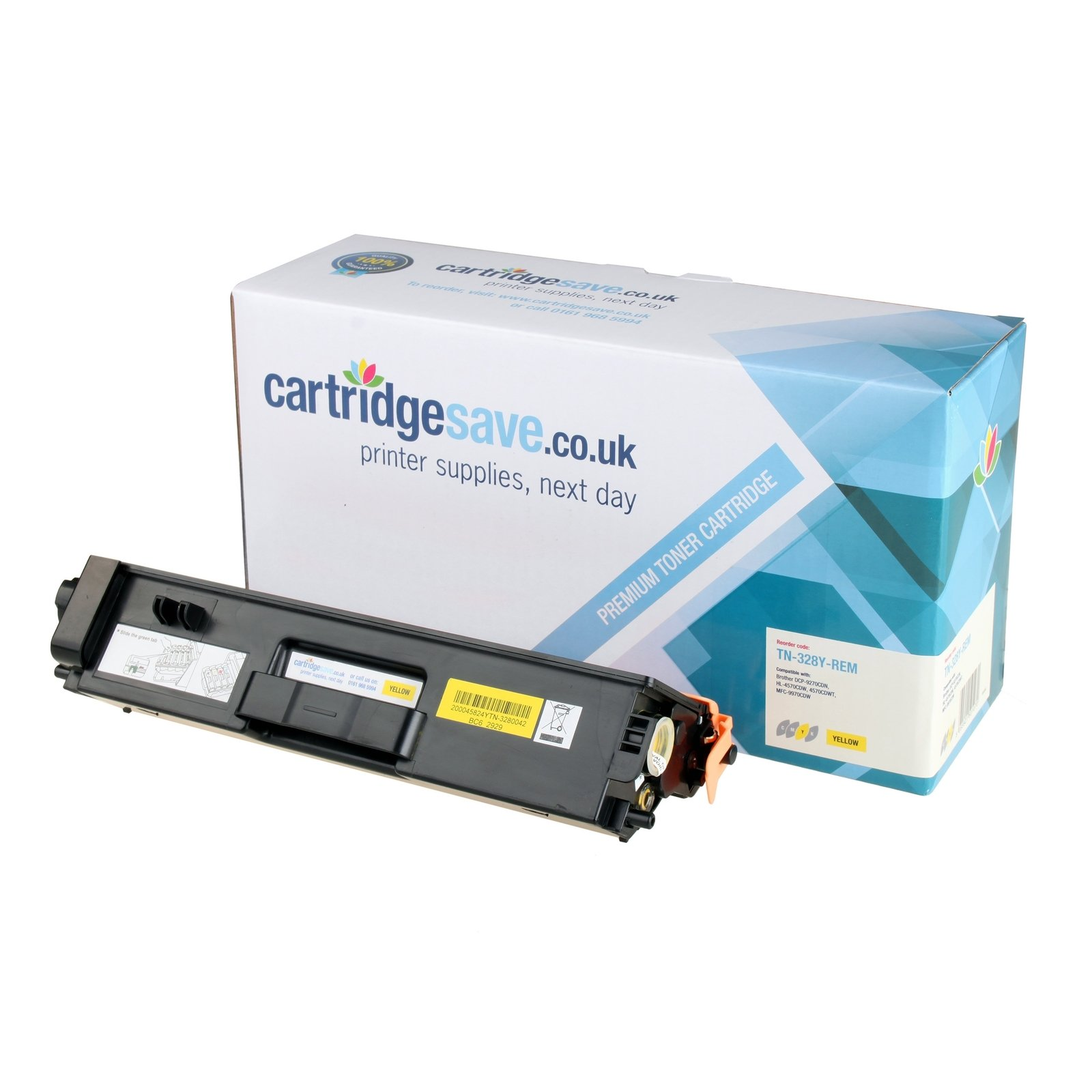 Compatible Extra High Capacity Yellow Brother TN-328Y Laser Toner - (Replaces Brother TN328Y)