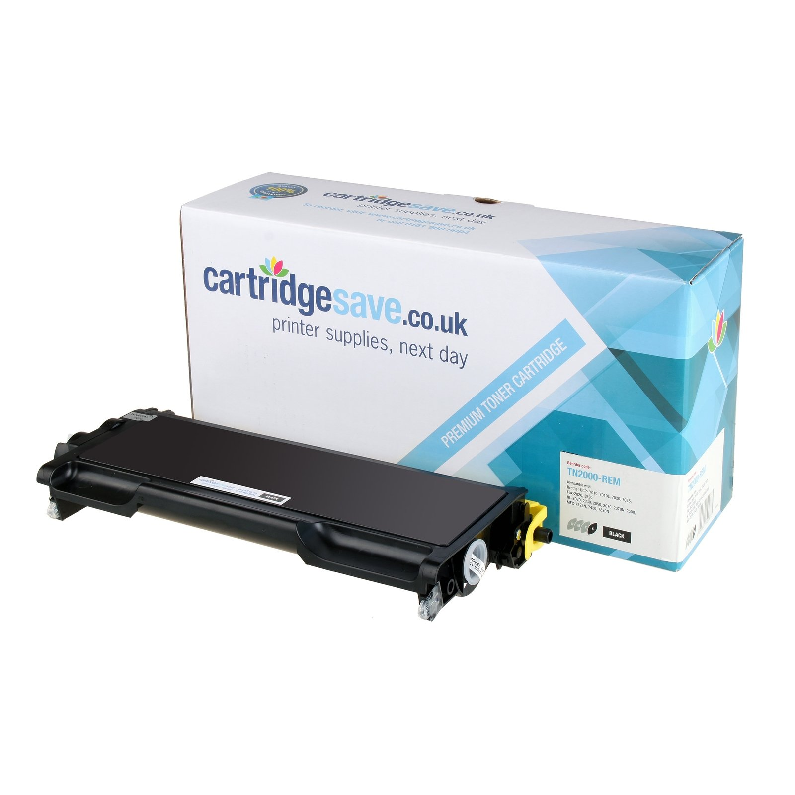 Compatible Brother TN-2000 Toner Cartridge Black (Replaces TN2000 Laser Printer Cartridge)