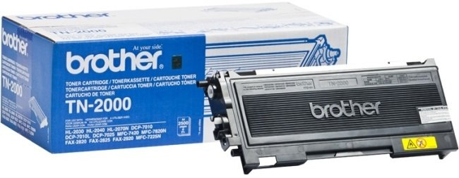 Genuine Brother TN-2000 Black Toner Cartridge (TN2000 Laser Printer Cartridge)