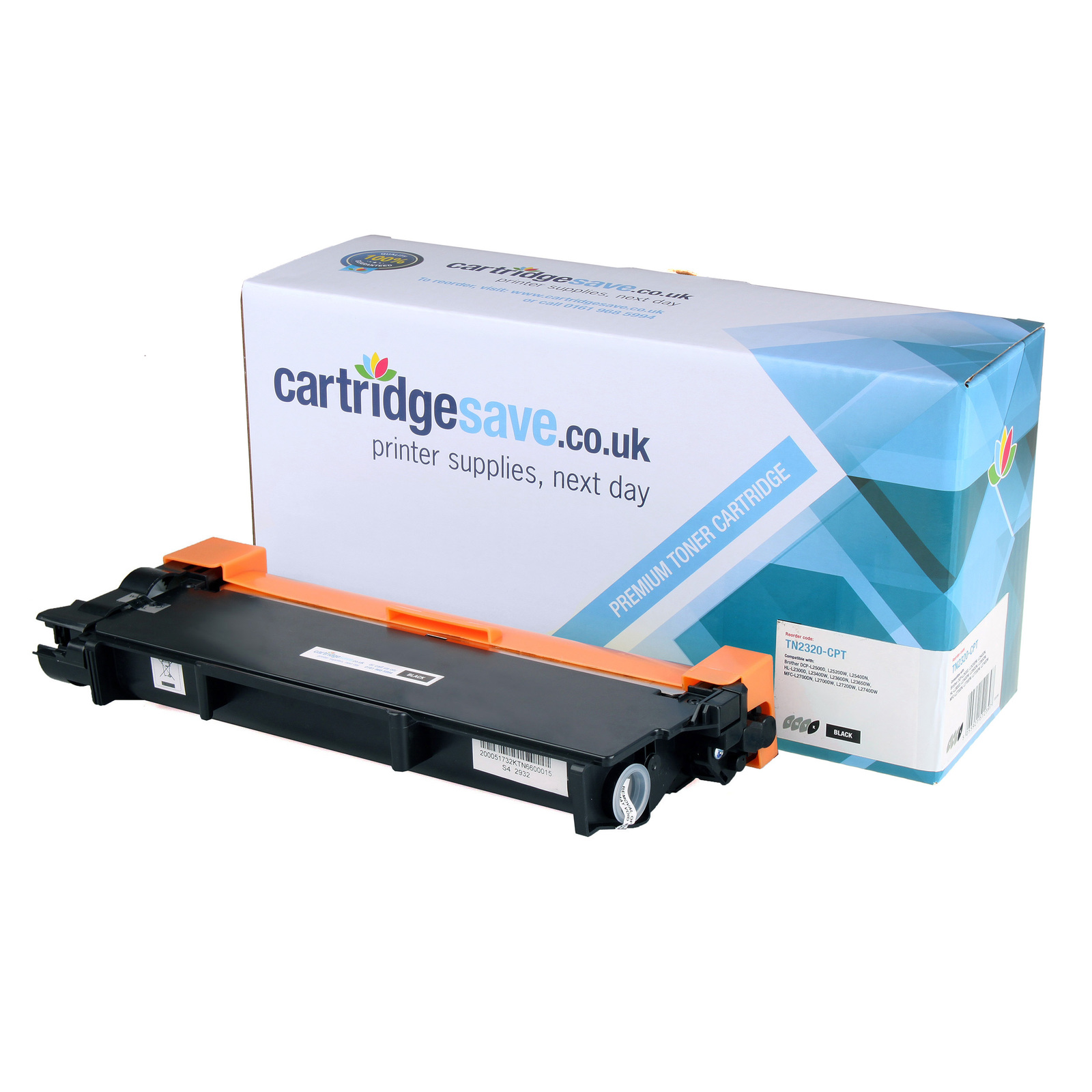 Compatible High Capacity Black Brother TN-2320 Toner Cartridge (TN2320 Laser Printer Cartridge)