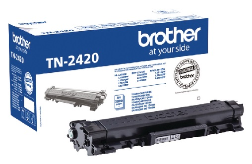 Genuine Brother TN-2420 High Capacity Black Toner Cartridge (TN2420 Laser Printer Cartridge)