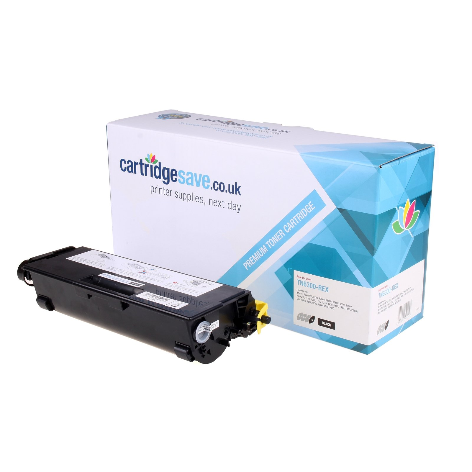 Compatible Black Brother TN-6300 Toner Cartridge (Replaces Brother TN6300 Laser Printer Cartridge)