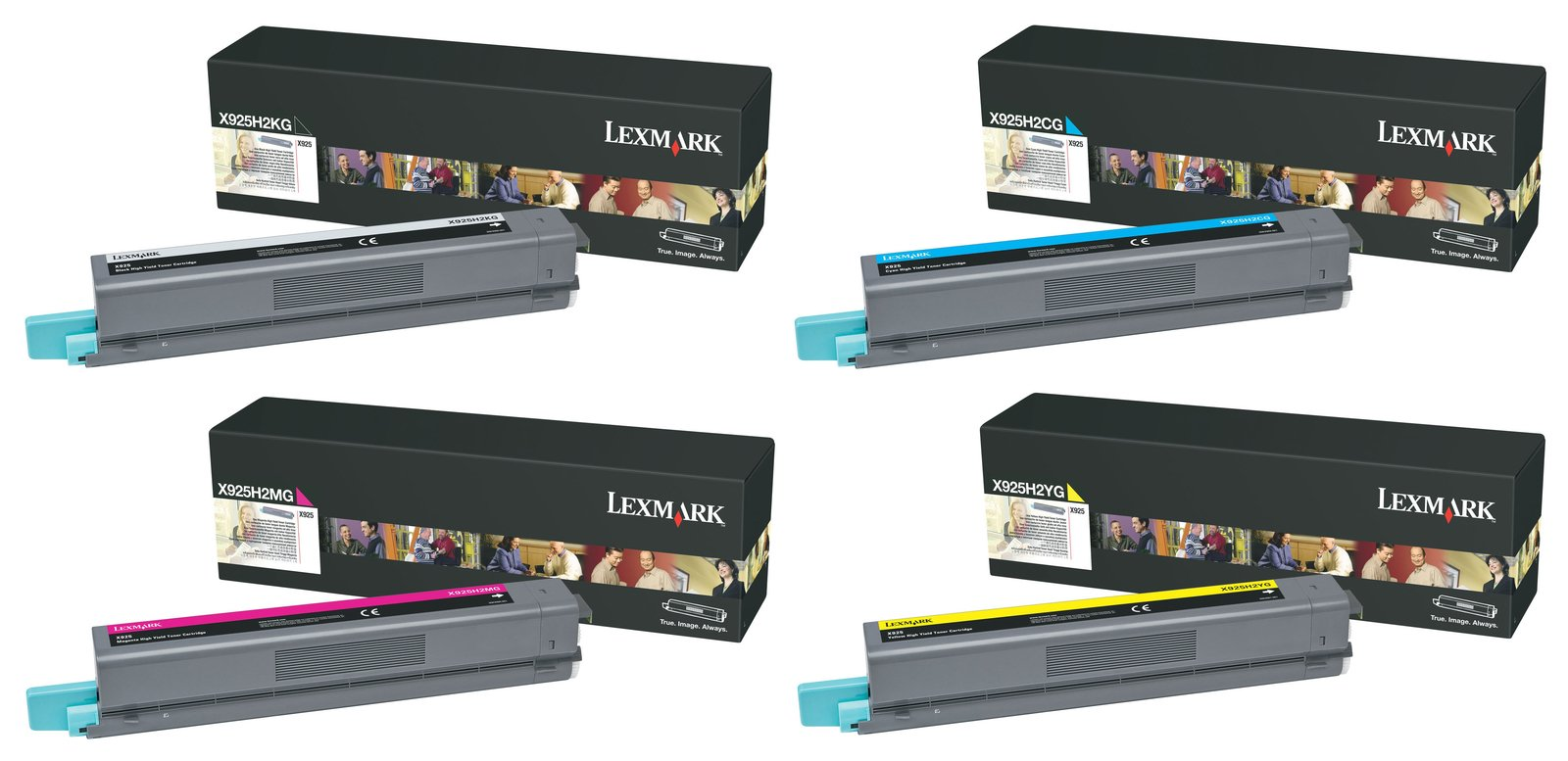 Genuine 4 Colour Lexmark X925H2 Toner Cartridge Multipack - (Lexmark X925H2KG/CG/MG/YG)