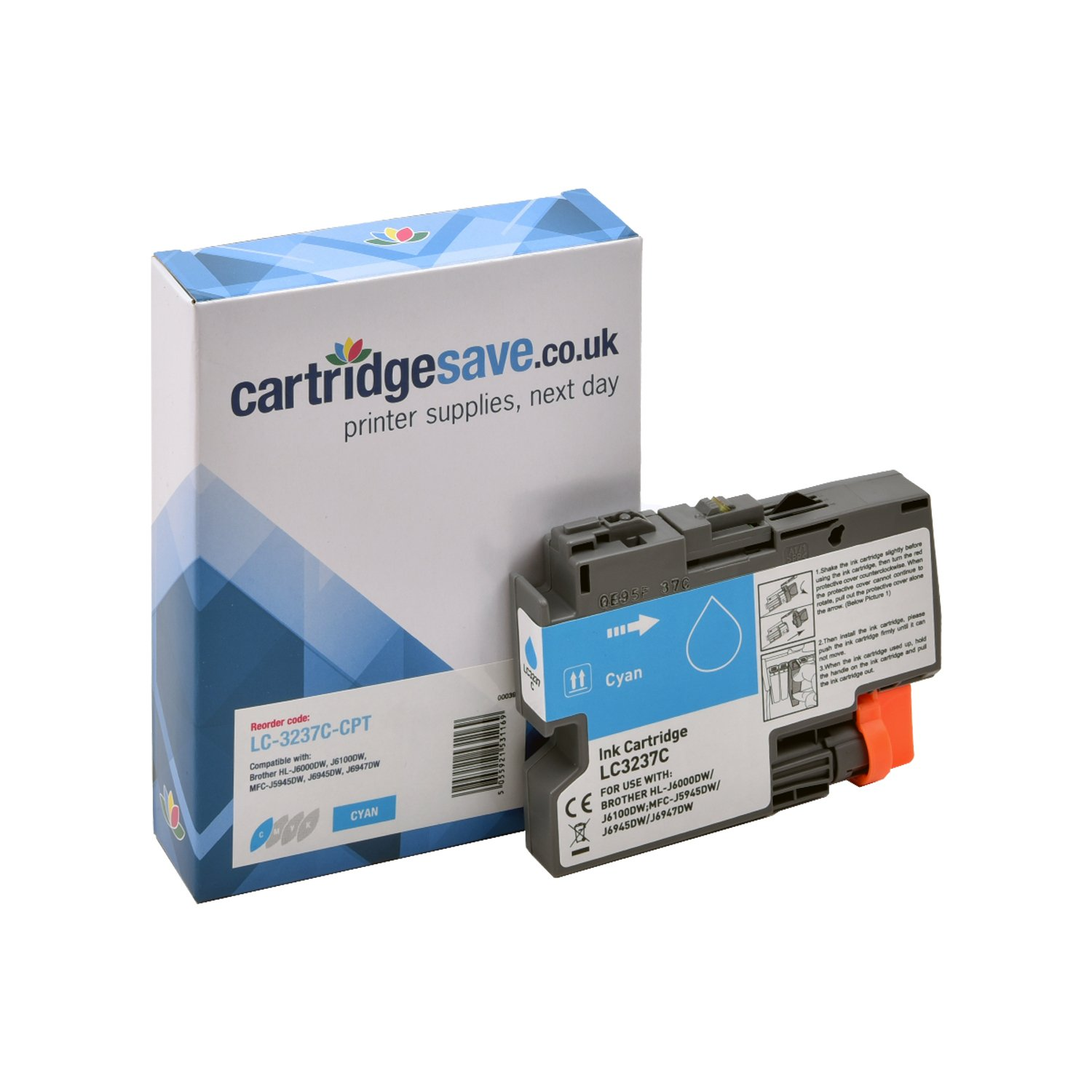 Compatible Cyan Brother LC-3237C Ink Cartridge (LC-3237C)