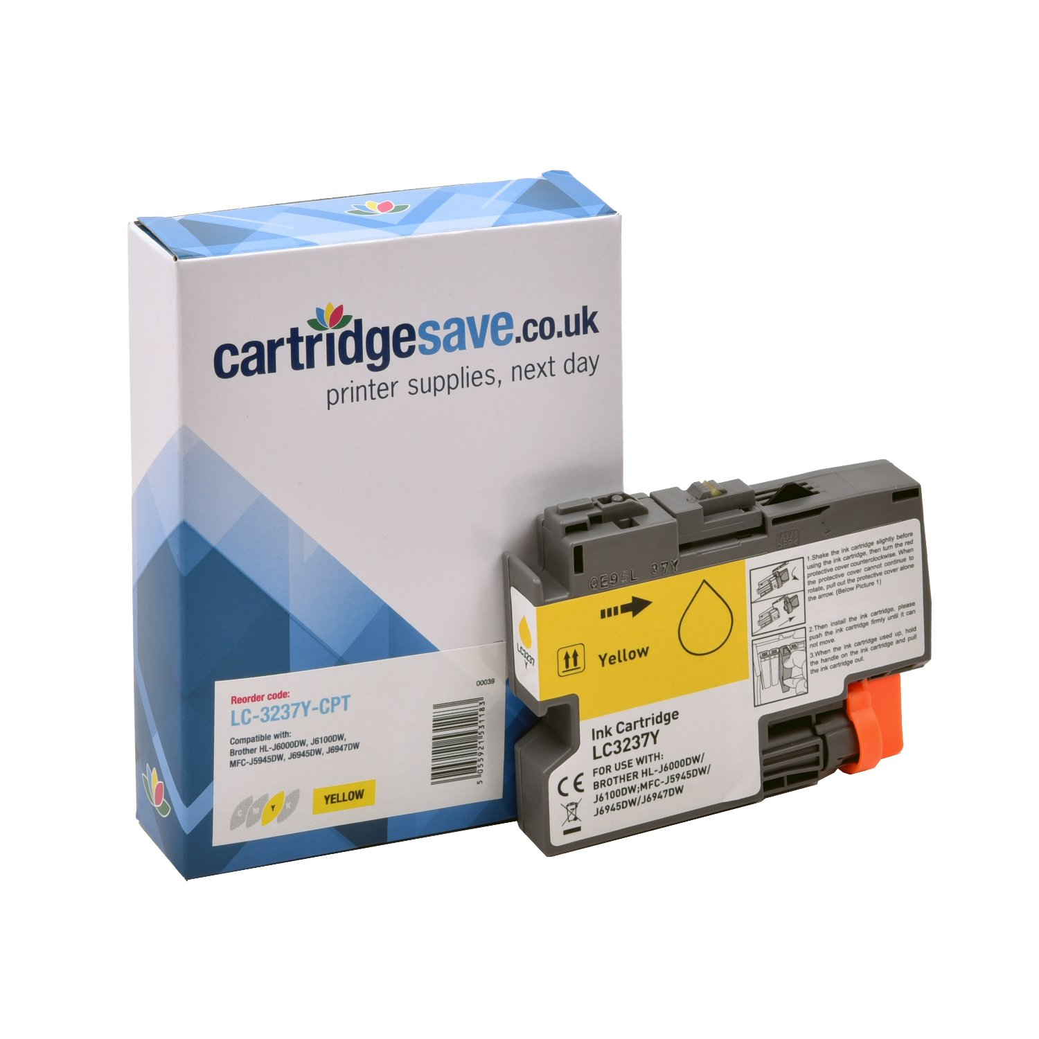 Compatible Yellow Brother LC-3237Y Ink Cartridge (LC-3237Y)