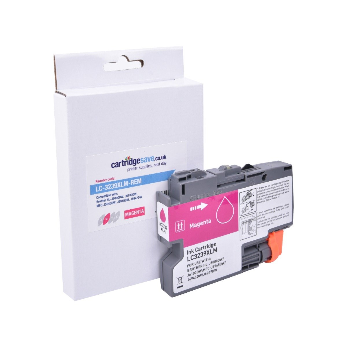 Compatible High Capacity Brother LC3239XLM Magenta Ink Cartridge (LC-3239XLM Inkjet Printer Cartridge)