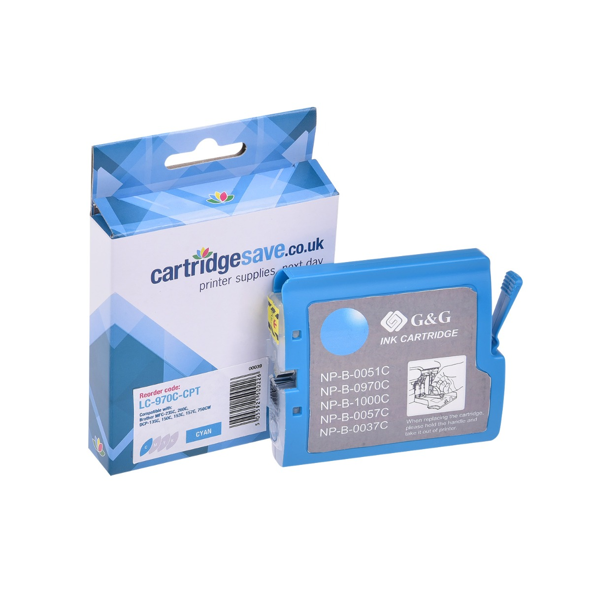 Compatible Cyan Brother LC970C Ink Cartridge - (LC-970C)