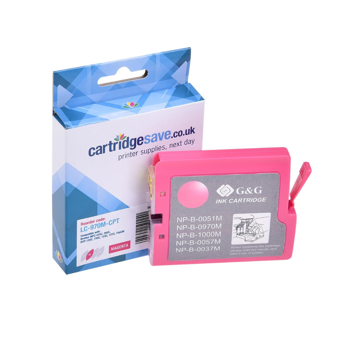 Compatible Magenta Brother LC970M Ink Cartridge - (LC-970M)