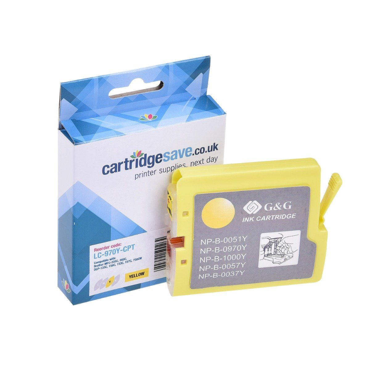 Compatible Yellow Brother LC970Y Ink Cartridge - (LC-970Y)