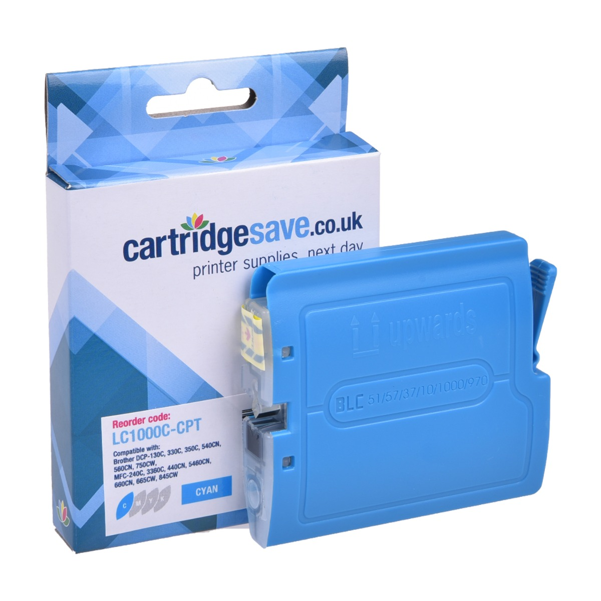 Compatible Cyan Brother LC1000C Ink Cartridge - (LC-1000C)