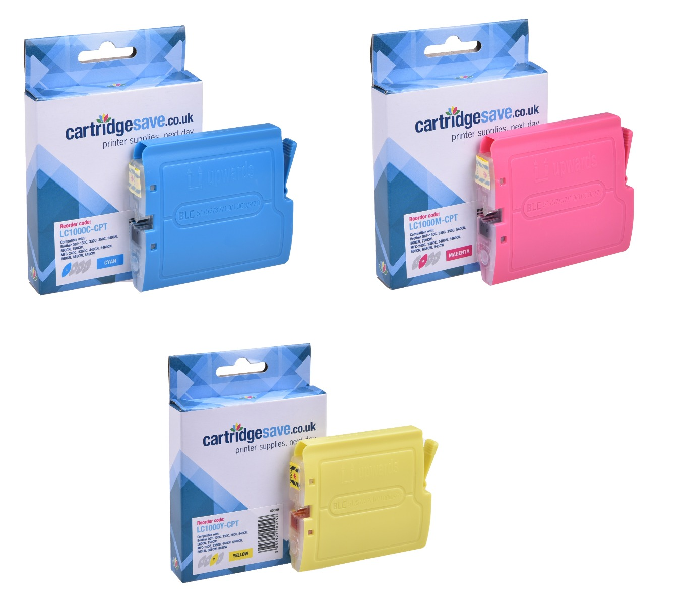 Compatible Brother LC1000 3 Colour Ink Cartridge Multipack (LC-1000C/M/Y)