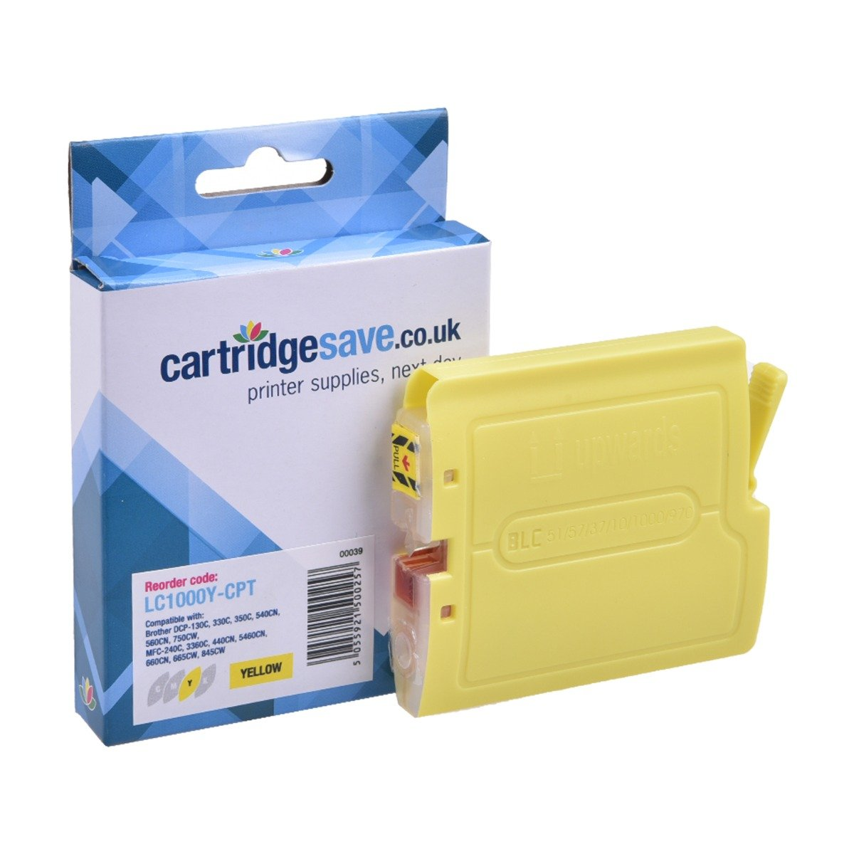 Compatible Yellow Brother LC1000Y Ink Cartridge - (LC-1000Y)