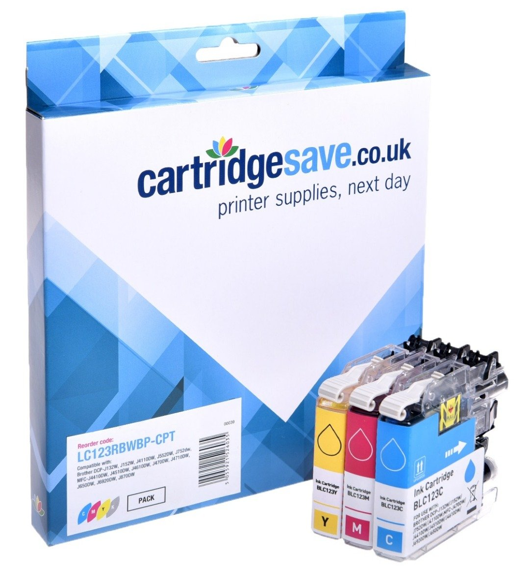 Compatible Brother LC123 3 Colour Ink Cartridge Multipack (LC-123C/LC-123M/LC-123Y)