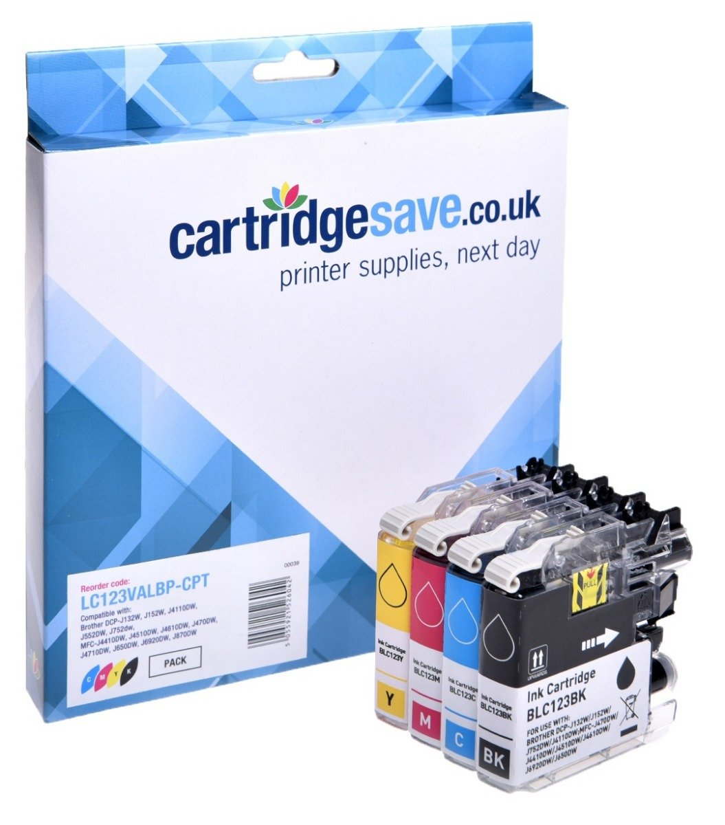 Compatible Brother LC123 4 Colour Ink Cartridge Multipack (LC-123BK/LC-123C/LC-123M/LC-123Y)