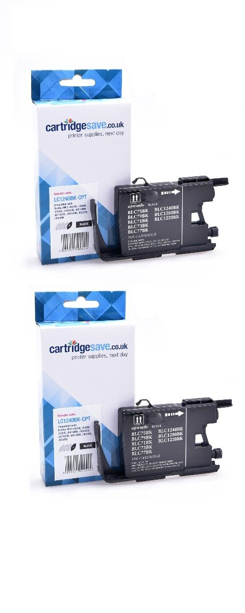 Compatible Black Brother LC1240BK Ink Cartridge Twin Pack (LC-1240BKBP2)