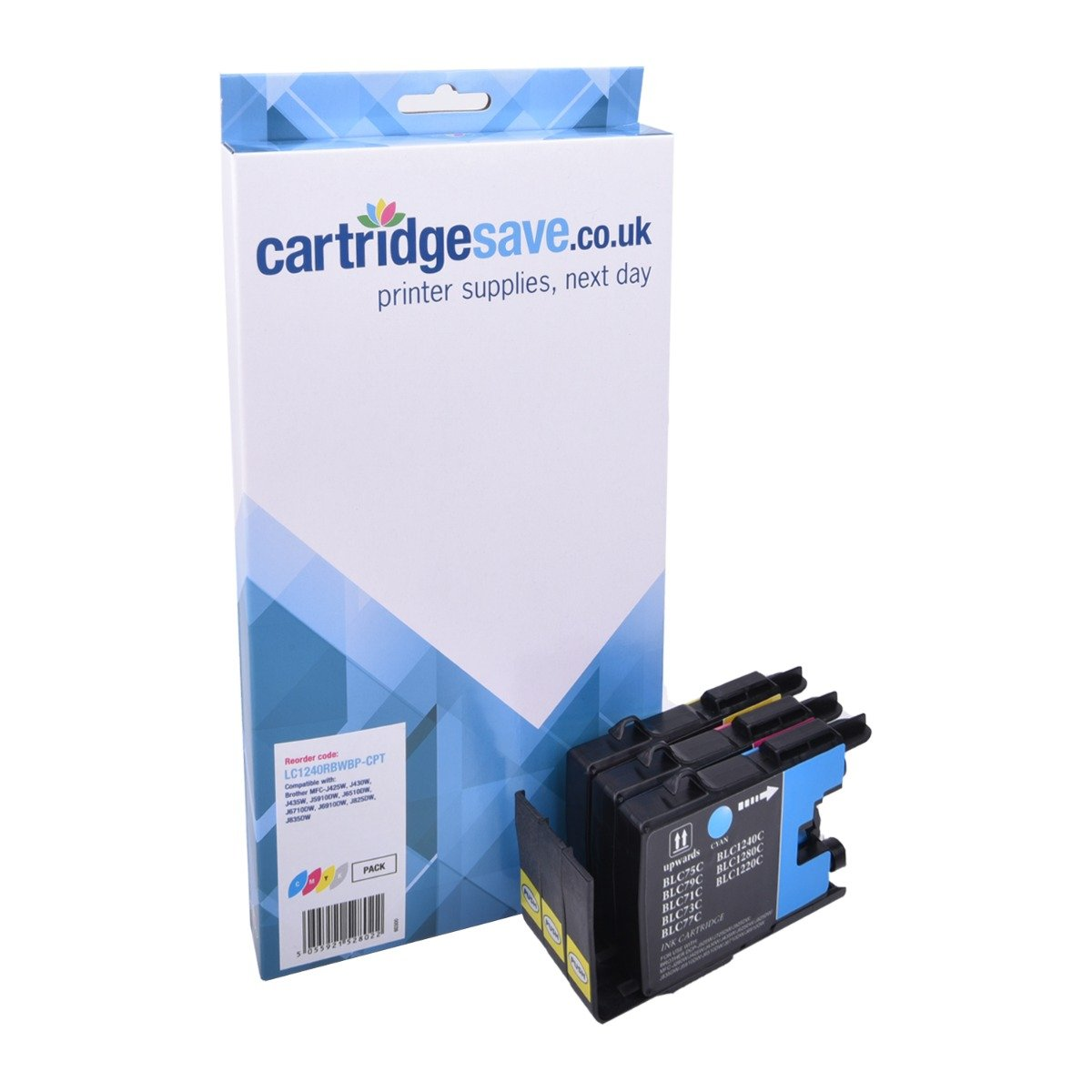 Compatible 3 Colour Brother LC1240 Ink Cartridge Multipack (LC-1240C/M/Y)