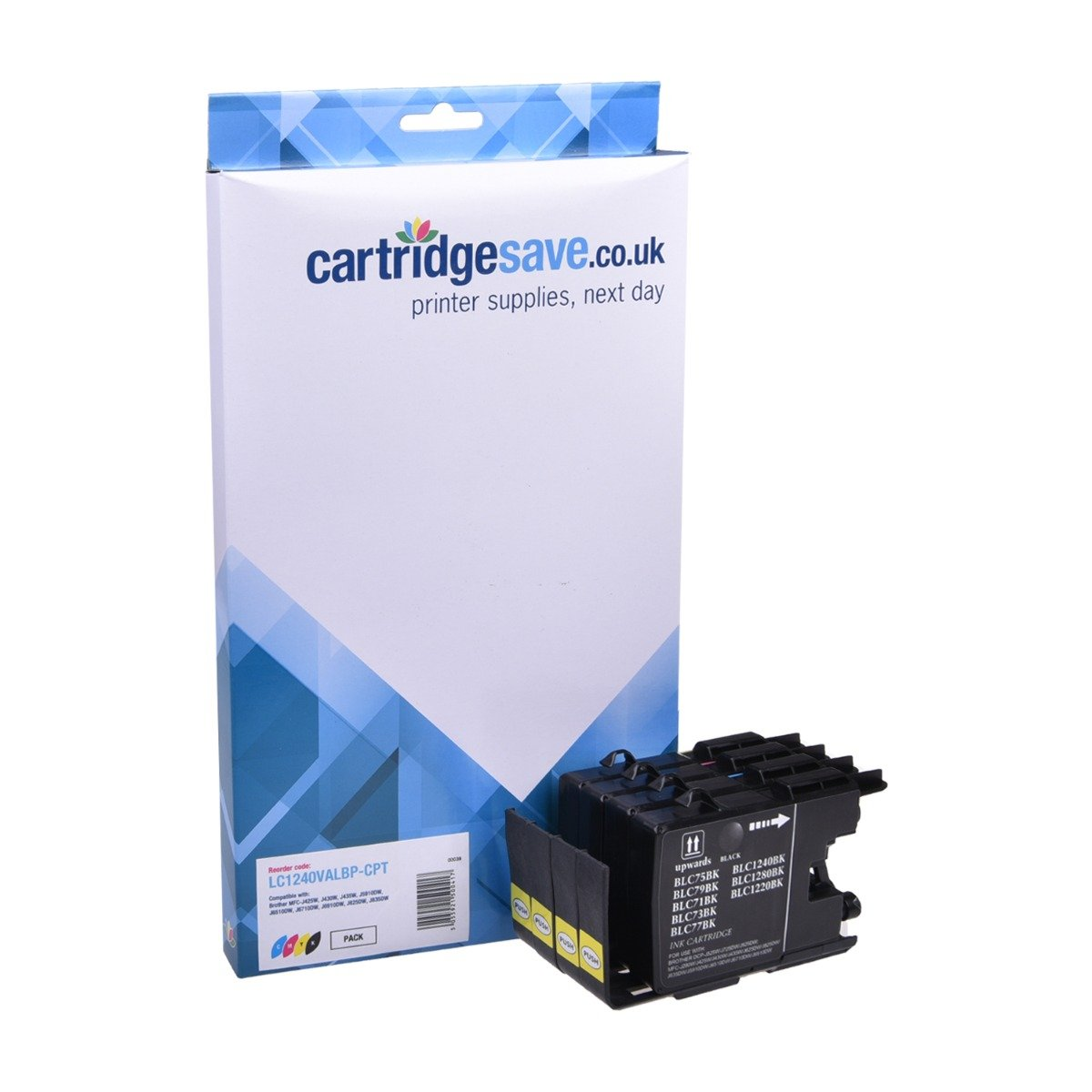 Compatible 4 Colour Brother LC1240 Ink Cartridge Multipack (Replaces LC1240VALBP)