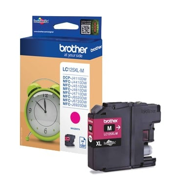 Genuine Brother LC125XL High Capacity Magenta Ink Cartridge (LC-125XLM Inkjet Printer Cartridge)