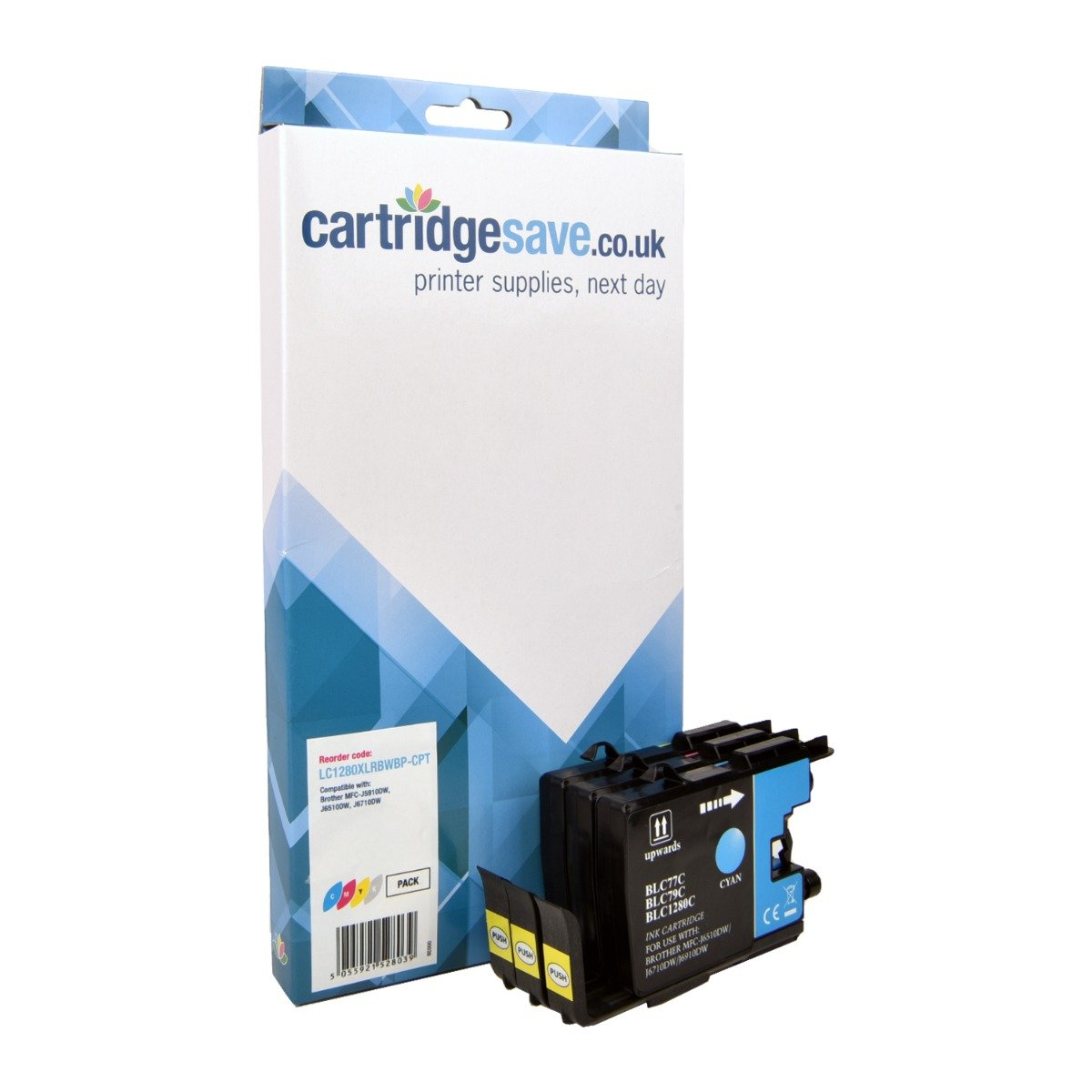 Compatible High Capacity 3 Colour Brother LC1280XL Ink Cartridge Multipack (LC-1280XLC/M/Y)