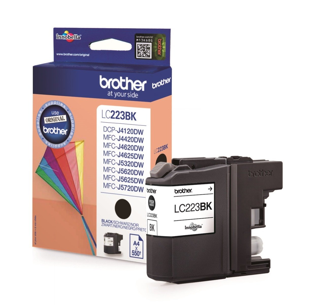Genuine Brother LC223 Black Ink Cartridge (LC223BK Inkjet Printer Cartridge)