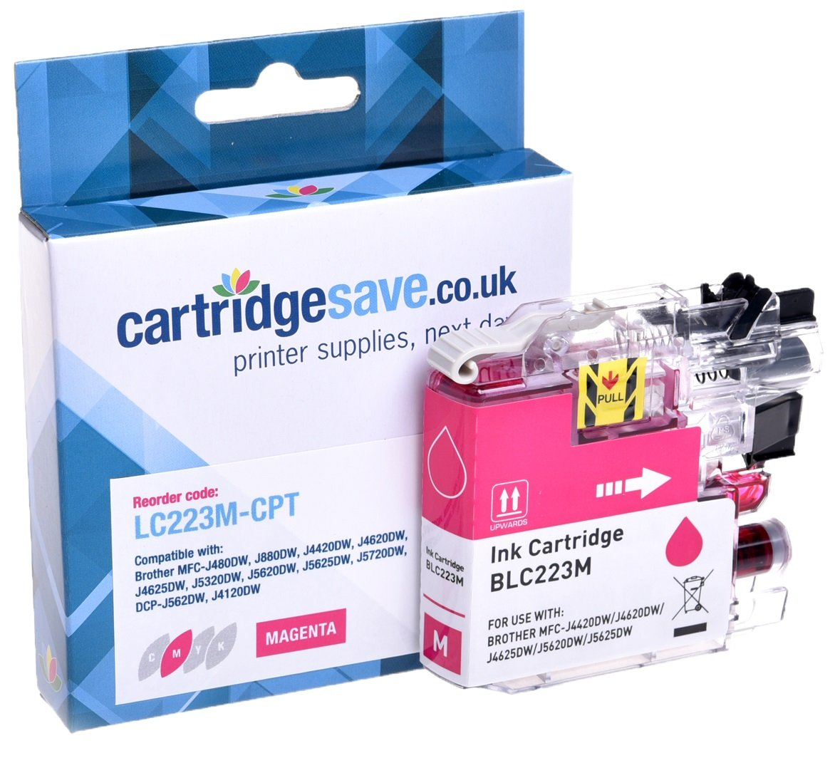 Compatible Brother LC223 Magenta Ink Cartridge (LC223M Inkjet Printer Cartridge)