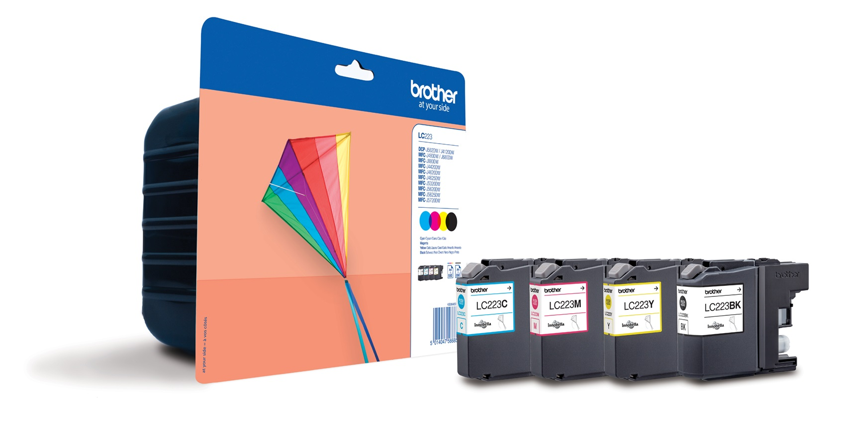 Genuine Brother LC223 4 Colour Ink Cartridge Multipack (LC223BK/LC223C/LC223M/LC223Y)