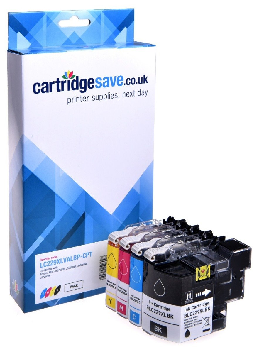 Compatible High Capacity 4 Colour Brother LC229XL / LC225XL Ink Multipack (LC229XLVALBP)