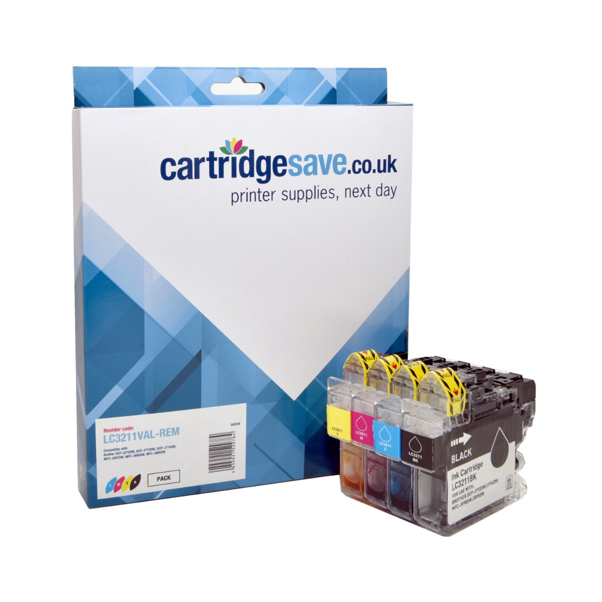 Compatible Brother LC3211VAL 4 Colour Ink Multipack - (LC3211BK/C/M/Y)