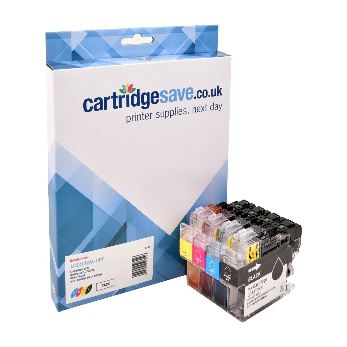 Compatible High Capacity 4 Colour Brother LC3213 Ink Cartridge Multipack (LC3213BK/C/M/Y)