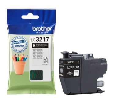 Genuine Brother LC3217 Black Ink Cartridge (LC3217BK Inkjet Printer Cartridge)