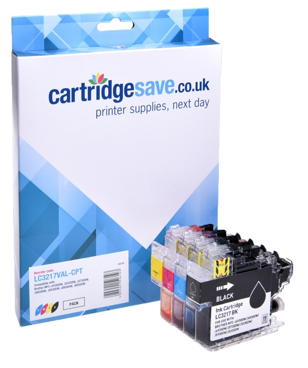 Compatible 4 Colour Brother LC3217 Ink Cartridge Multipack (LC-3217BK/C/M/Y)