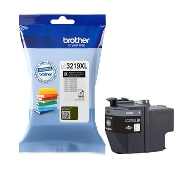 Genuine Brother LC3219XL High Capacity Black Ink Cartridge (LC3219XLBK Inkjet Printer Cartridge)