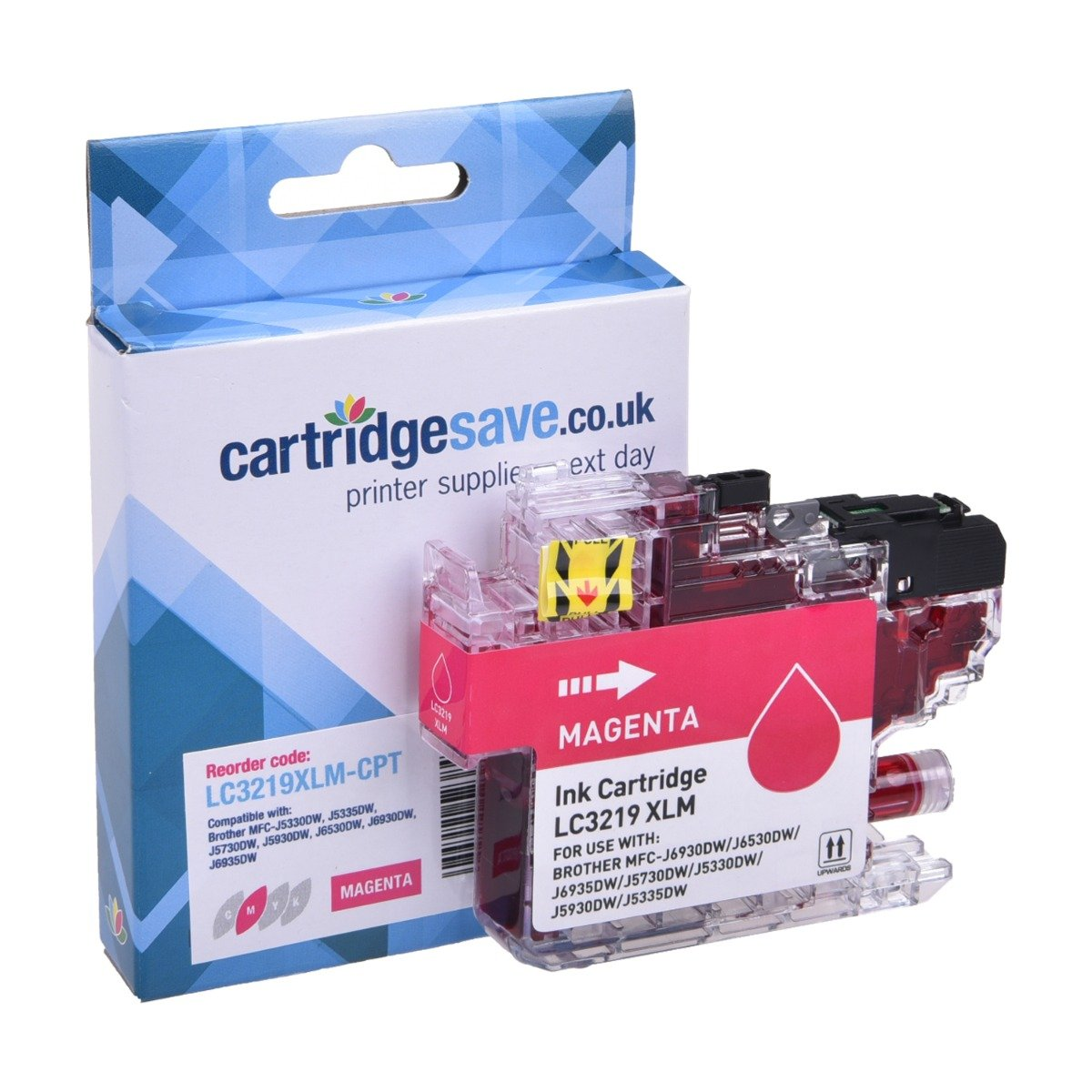 Compatible Brother High Capacity Magenta LC3219XL Ink Cartridge (LC3219XLM Inkjet Printer Cartridge)