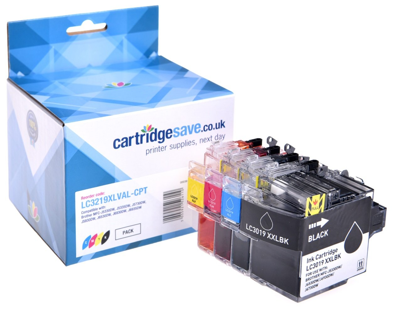 Compatible 4 Colour High Capacity Brother LC3219XL Ink Cartridge Multipack (LC-3219XLBK/C/M/Y)