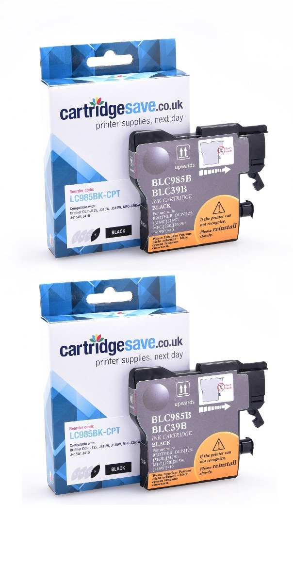Compatible Black Brother LC985BK Ink Cartridge Twin Pack (LC985BKBP2)
