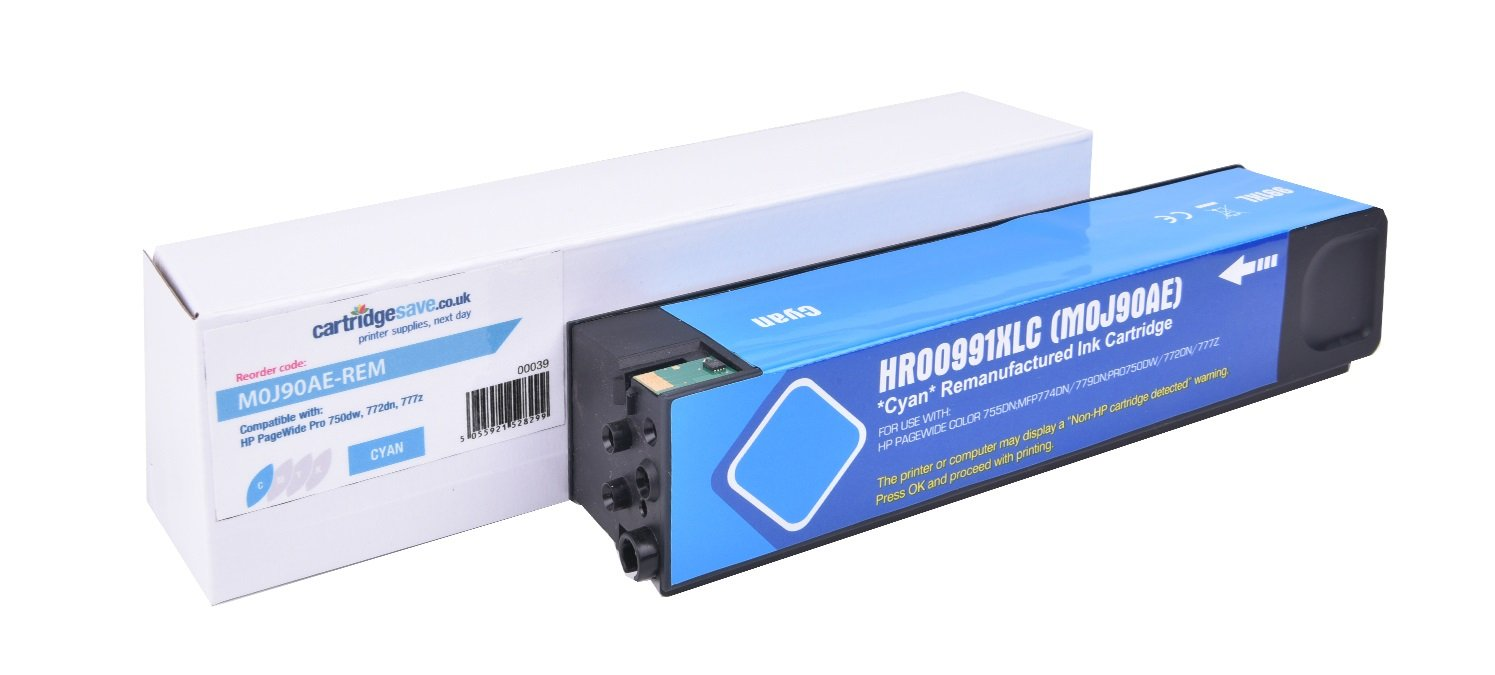 Compatible High Capacity Cyan HP 991X Ink Cartridge - (Replaces HP M0J90AE)
